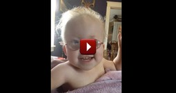 Happy Baby Girl Sings the National Anthem With Her Mom - Precious!