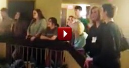 High School Students Shockingly Sing Out Together in Hotel - Amazing