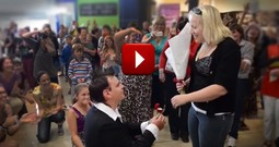Mall Flash Mob Turns into a Tear-jerking Proposal!