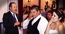 Bride's Dad 'Sings' Surprise Song In Sign Language At Her Wedding