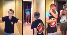 Marine Has The BEST Surprise For His Baby Brother!