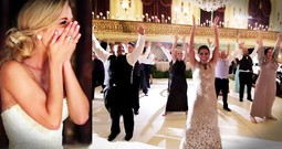 The Bride And Groom Just Got The BEST Surprise...A Flash Mob!