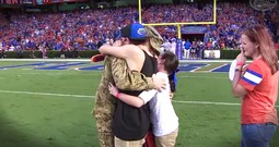 Soldier's Homecoming Surprise Had The Whole Stadium In Tears