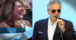 Andrea Bocelli Surprises A Bride At The Alter