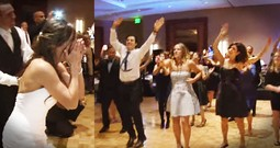 Family's Flash Mob Surprise For The Bride Get The BEST Reaction