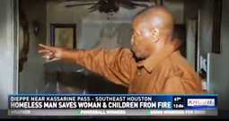 Homeless Man Saves Family From Fire After They Show Him True Kindness