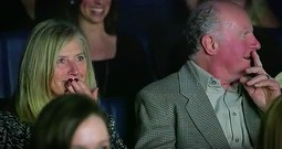 Grandparents Receive The Greatest Surprise In Movie Theater!