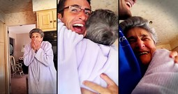 Nana's Reaction To Grandson's Homecoming Surprise Is Too Cute
