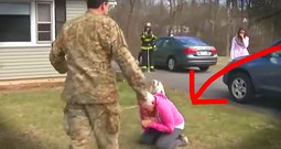 Soldier On Firetruck Surprises Mom With Tear-Filled Homecoming