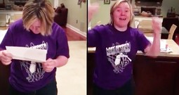 Student With Down Syndrome Breaks Down After Getting In To College