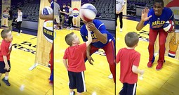 Boy's Reaction To A Basketball Trick Will Make You Smile