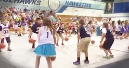 Kid's Basketball Routine To A Worship Hit Will Make Your Day