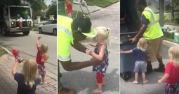 Toddler Triplets And Garbage Men Are The Cutest Friends