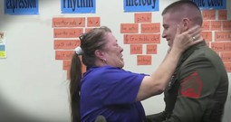 Marine's Surprise For His Teacher Mom Is Too Cute