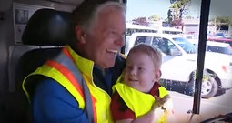 Little Boy Who LOVES The Bus Gets Amazing Surprise