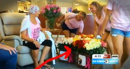 Husband Surprises Cancer-Fighting Wife With 500 Roses