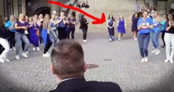 Flash Mob Proposal Has An Adorable Twist