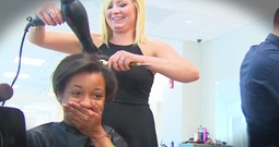 Salon Gives Homeless Woman Makeover Before Visiting Husband's Grave