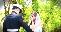 She Feared Her Marine Brother Would Miss Her Wedding Until He Walked Around The Corner