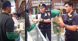Stranger On The Street Brings Police Officers Coffee And Pastries After NYC Explosion