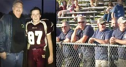 Firefighters Surprise Son Of A Fallen Brother At His First Football Game