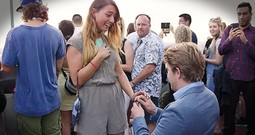 Boyfriend Surprises Girlfriend On Trip In NYC With Beautiful Proposal