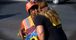 Tiny Crossing Guard Saves 8-Year-Old From Kidnapper