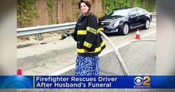 Widow Helps Car Crash Victim On The Way Home From Firefighter Husband's Funeral