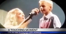 Country Star Carrie Underwood Sings With Boy With Tourette Syndrome