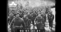 Hauntingly Beautiful Footage Of WWII Soldiers Singing As They March