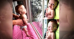 Baby Sees Snow For The First Time After Doctors Said She Would Be Stillborn