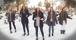 Talented Sisters Perform 'Angels We Have Heard On High' In Snowy Forest