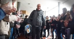 Retiring Teacher Walks Through Crowd Of 700 Cheering Students On Last Day