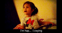 Precious Little Girl Sings An Original Blues Song For Her Daddy Who Is Going To Work