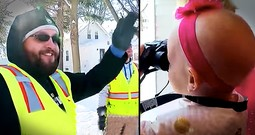 3-Year-Old With Cancer Strikes Up Heartwarming Friendship With Garbage Men