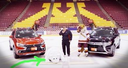 Bear Mascot Hilariously Can't Stop Falling On Ice