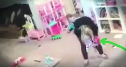 Quick Thinking Mom's Life-Saving Actions Caught On Camera