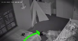 Mom Hilariously Sneaks Out Of Her Baby's Room After Getting Him Down