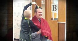 Principal Shaved His Head In School To Support A Bullied Little Boy