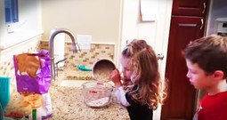 Precious Little Girl May Be Confused About Baking But She Is Giving It Her All