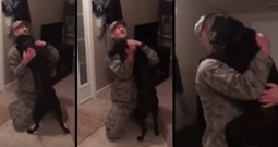 Airman Comes Home From A 6 Month Deployment To The Warmest Welcome From His Dog