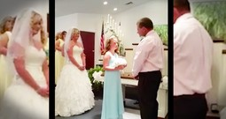 Groom's Special Vows To His New Daughter Are Tear-Worthy