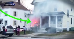 UPS Guy Saves A Family From A Fire And The Footage Is Incredible