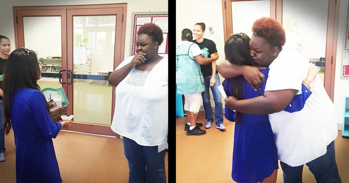 Angelic Daycare Worker Gets Surprise Car