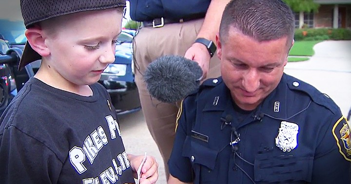 6-Year-Old Writes Thank You Letter To Police Officers And Gets Surprise Visit
