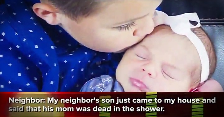 Stunned Neighbor Finds Terrified 5-Year-Old Cradling Baby on Porch Saying His Mom's Dead